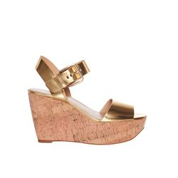 Michael Kors gold Xaria wedge from Bicester Village