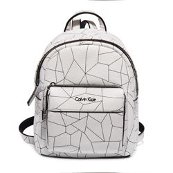 Mini backpack blanca Calvin Klein