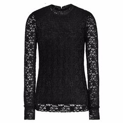 Reiss Alexa black lace top