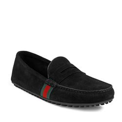 Driver 'Hainan' in black suede by GUCCI at Ingolstadt Village