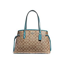 Coach Women's Marine Signature Pvc Messico Drawstring Carryall