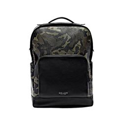 Coach men's green Graham Backpack In Ink Camo