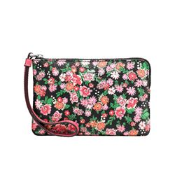 Cosmetic pouch Wild Meadow black by Coach at Ingolstadt Village