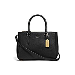 Crossgrain Leather Mini Surrey Carryall