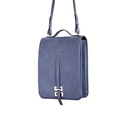 Só Collective Alison Conneely leather satchel in blue