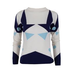 Só Collective Coletti royal blue and sky blue jumper