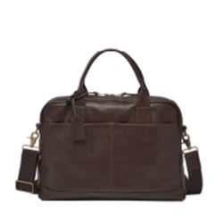 Fossil Wyatt workbag in dark brown