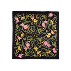 1e4587ff2815 Foulard Gucci Femme noir   violet clair Flower Webby