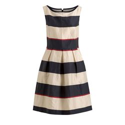 René Lezard Dress with Stripes in Creme/Darkblue at Ingolstadt Village