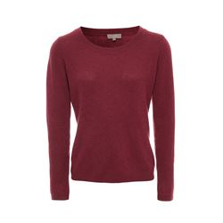 N.Peal Spiced wine Gauzy scoop neck sweater from Bicester Village