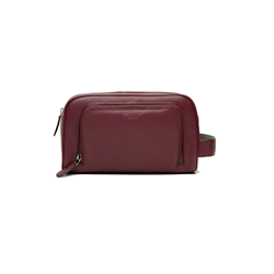 Oxblood Leather Washbag