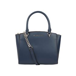 Michael Kors Navy Ellis Small Convoy Satchel