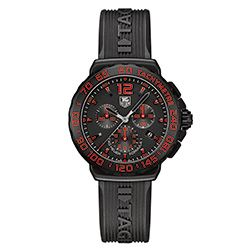 Dark watch with red details