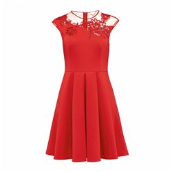 Ted Baker Dollii bright red skater dress