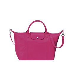 Longchamp  Le Pliage Cuir medium bag from Bicester Village