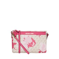 Michael Kors Camo Rose Jet Set Travel Messenger in pink and white at Ingolstadt Village