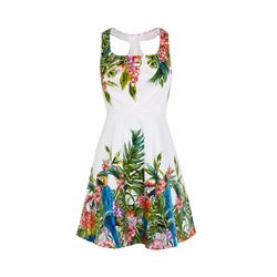 Karen Millen Tropical botanical print dress