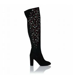 L.K. Bennett Kassandra over the knee suede boots