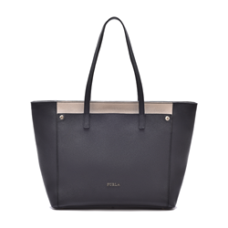 Furla Teresa large leather tote in onyx