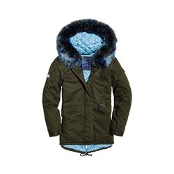 Superdry  Womens hawk faux fur parka from Bicester Village