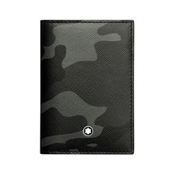 Montblanc Men's Grey Camouflage Business Card Holder