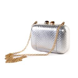 Só Collective Ale Walsh silver clutch