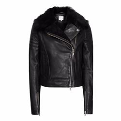Reiss Tilly sherling and leather jacket