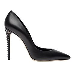 Spazio - Black stilettos with studs on the heel