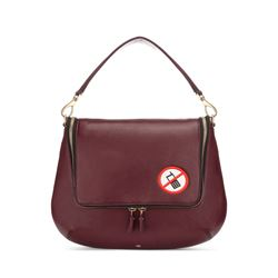 Anya Hindmarch red no mobiles satchel