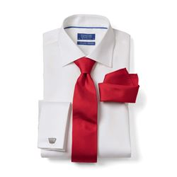 Shirt and tie set in white and red by The Society Shop at Ingolstadt Village
