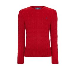 Women's sweater in red by Polo Ralph Lauren at Wertheim Village
