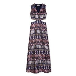 Tory Burch Metallic jacquard long dress