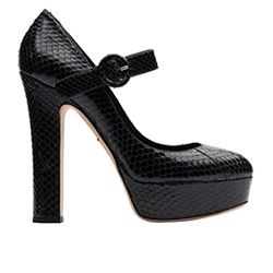 Spazio - Black heeled shoes with buckle from D&G