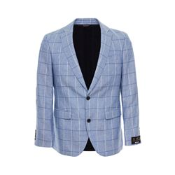 Barbour  Blue check tailored jacket from Bicester Village