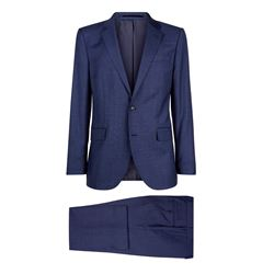 Men's midnight grid check suit