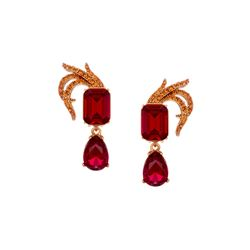 Red stone earrings