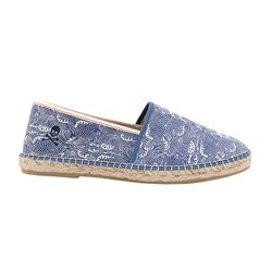 Waves blue espadrilles