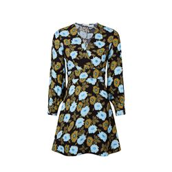 Blue yellow flowered dress