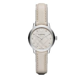 Burberry cream leather watch