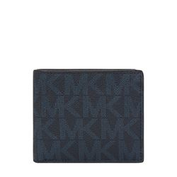 Wallet in navy by Michael Kors Mens at Ingolstadt Village
