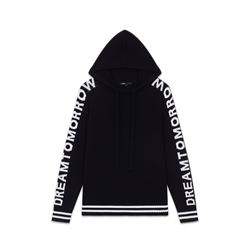 Maje Women's Oversize Hooded Graphic Sweater