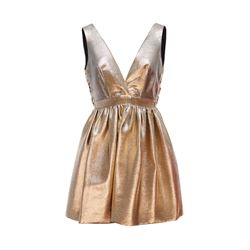 Sandro Gold  Corset Dress from Bicester Village