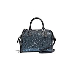 Coach Women's midnight Star Glitter Micro Bennett Satchel