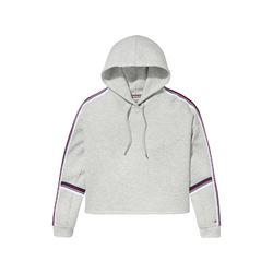 Tommy Hilfiger women's light grey heather tape hoodie