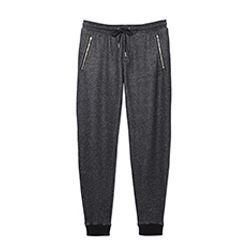 Duo Fleece & Leather Grey/Black Pant