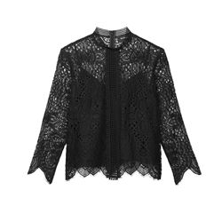 The Kooples, Embroidered black top