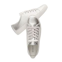 DKNY Sasha metallic leather sneaker
