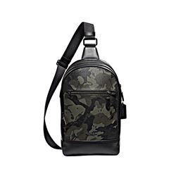Coach men's green Graham Pack In Ink Camo