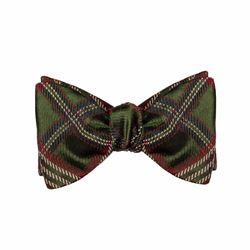 Brooks Brothers Check bow tie