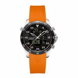 Hour Passion Hamilton flight timer quartz with orange strap